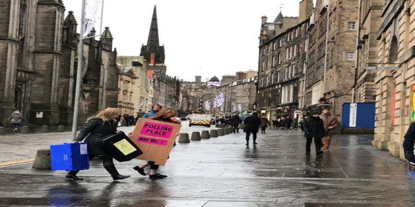 Edinburgh Prepares For General Election