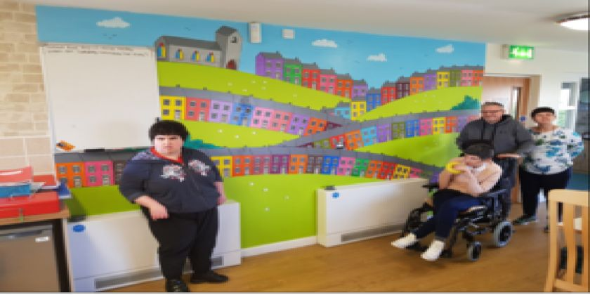 A Brush With The Law: A Flair For Art Inspiring Wellbeing In Local Learning Centre.