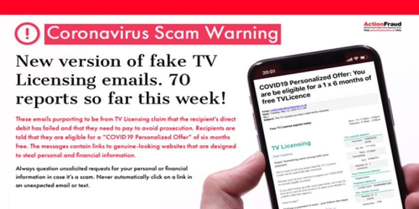 Beware Of Covid-19 Tv Licencing Scam