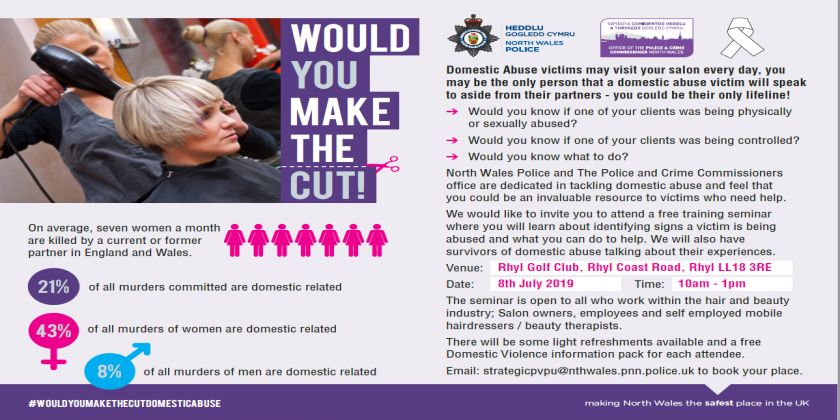 Free Training For The Hair & Beauty Industry To Support Domestic Abuse Victims