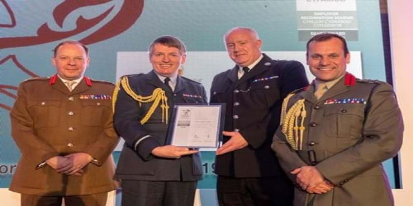 North Wales Police Recognised For Supporting Our Armed Forces