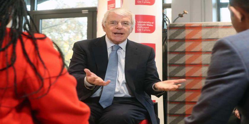 Former Pm Sir John Major Visits Usw