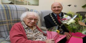 Birthday Celebrations For 105-year-old Mrs Ivy Skeate