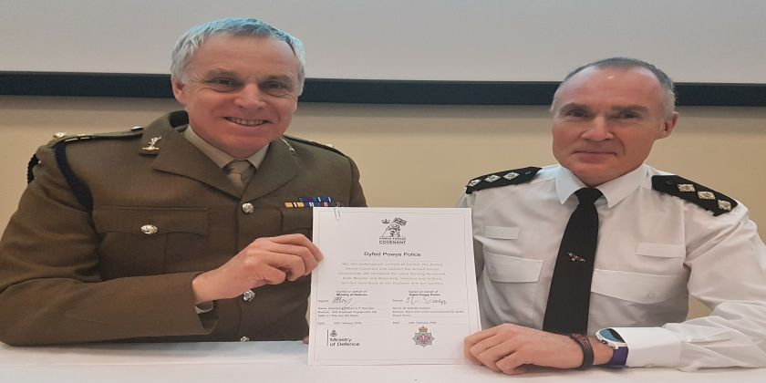 Dyfed-powys Police Signs The Armed Forces Covenant