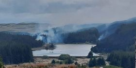 Police Appeal Following Wildfire At The Artists Valley/cwm Einion Near Furnace, Ceredigion